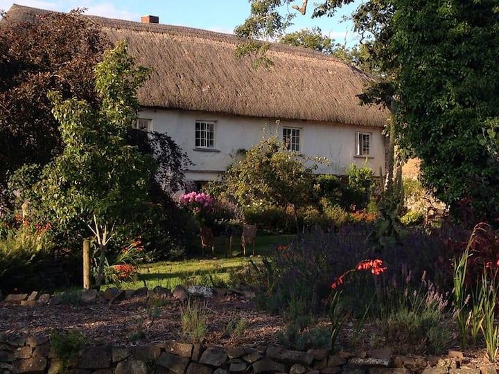 Luxury Thatched Farmhouse & annex in 3 acre garden