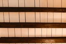 Detalle techos de vigas de madera