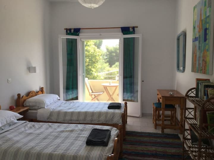 Relaxing retreat in Chalikounas: double room