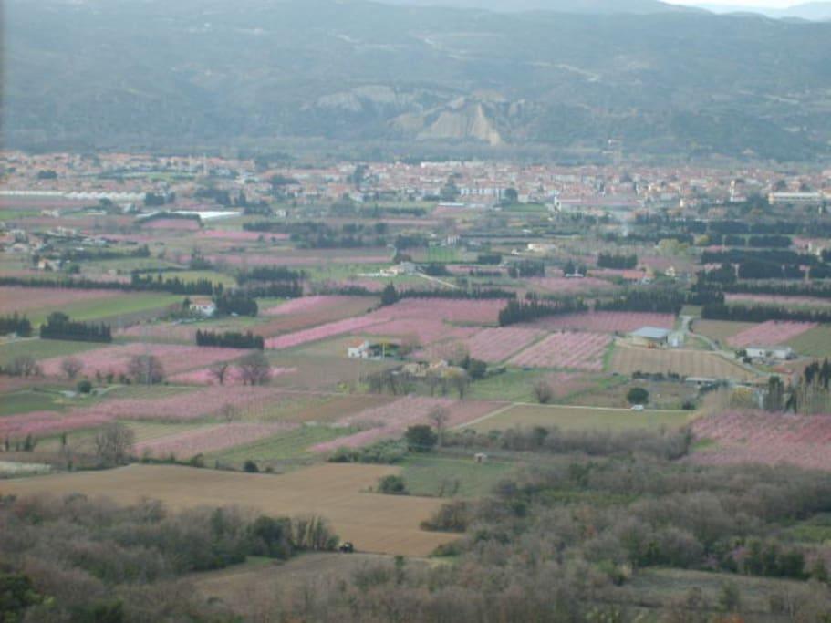 Vue imprenable sur la vallée de la Têt (Roussillon)