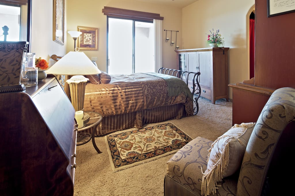 Welcome home!  You have your own private entrance and patio with full patio access & observation deck, swimspa/hot tub!