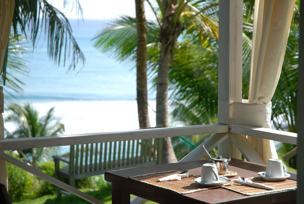 Breakfast is available. Enjoy the fantastic view.