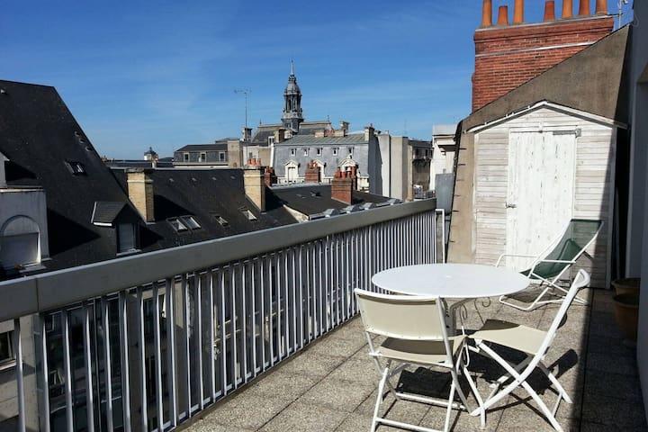 Chambre avec terrasse gare de Tours - Tours