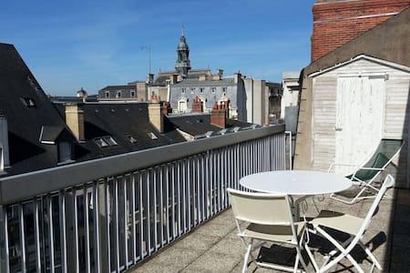 Chambre avec terrasse gare de Tours - Apartment
