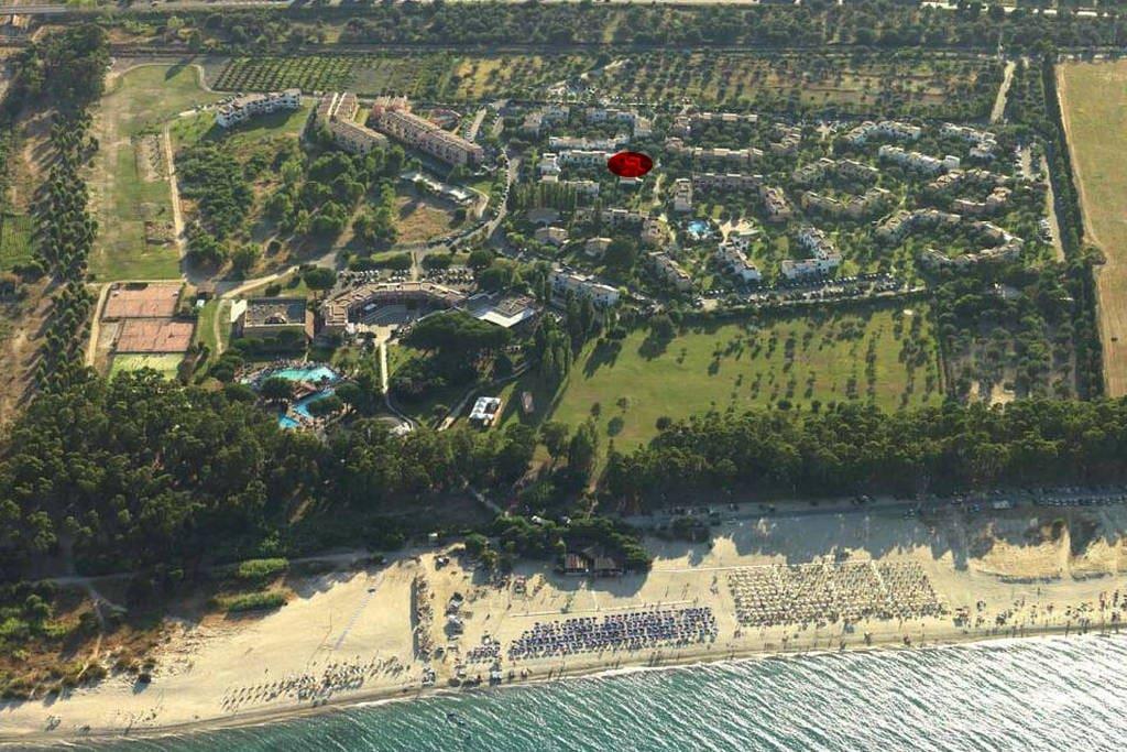 In rosso la posizione dell'appartamento all'interno del villaggio