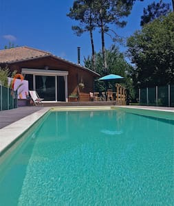 beautiful woodhouse with pool - Saint-Julien-en-Born - Haus