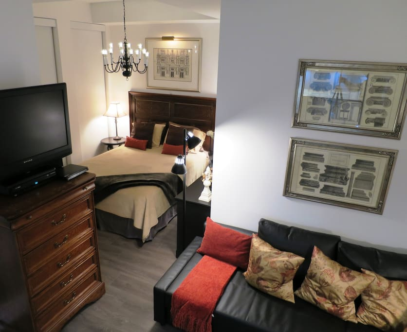 Suite is large enough to be comfortable and the best size to be affordable....