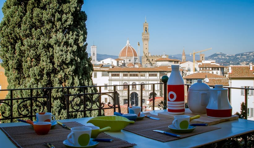 Magnoli Terrace spectacular view - Firenze - Apartment