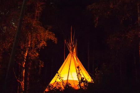 Teepee on a eco farm- B&B Skifterud - Austbygdi - Tipi