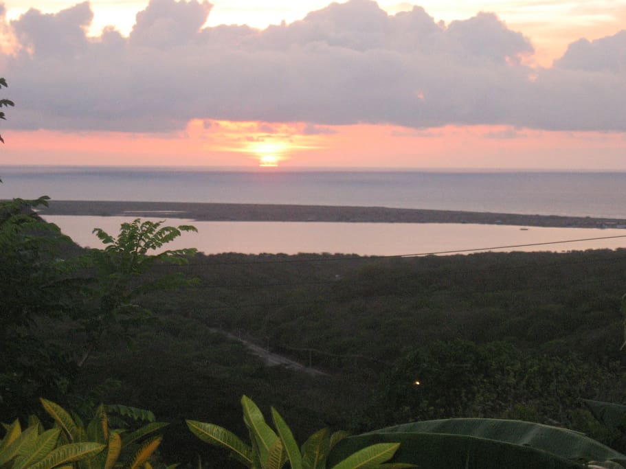 Caribean sunset from the terrace
