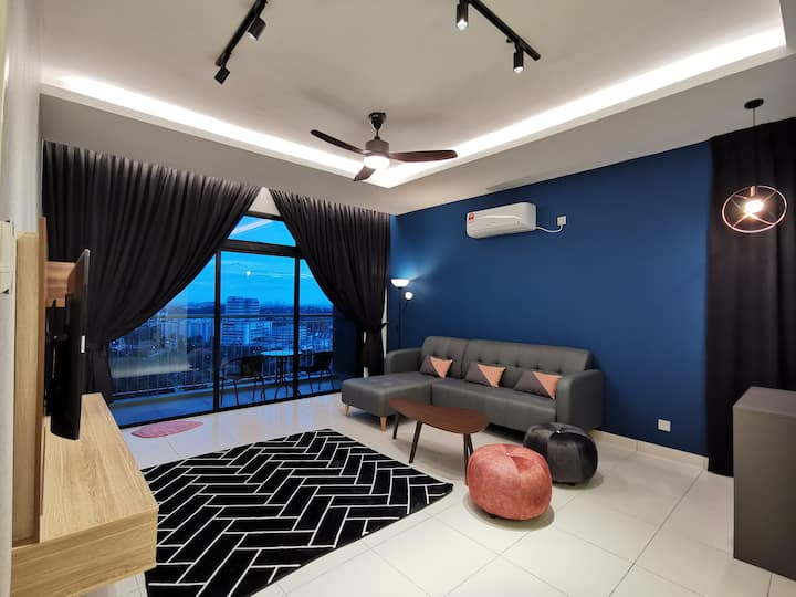 【Sky Peak】Luxury Modern 3BR JB town city waterpark