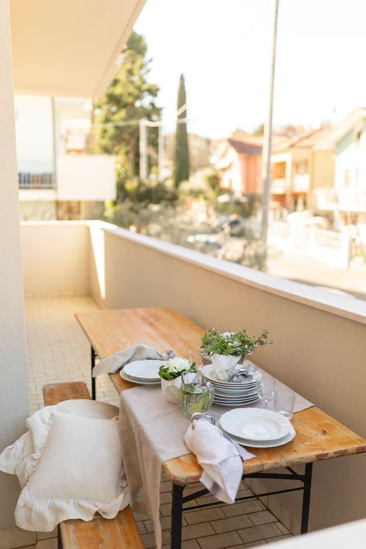 Ampio appartamento con giardino,zona residenziale