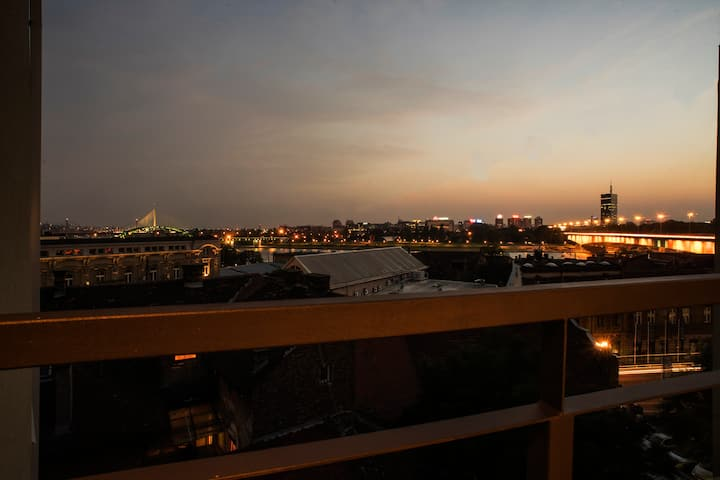 Beautiful view of bridges, Savamala Apartment 14a