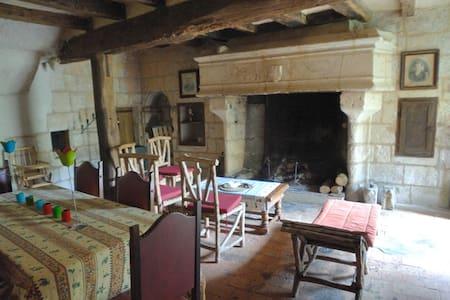 Maison troglodîte en bord de Loire - Parnay, Saumur
