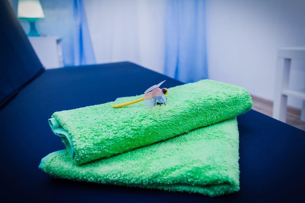 всегда чистое белье и полотенца