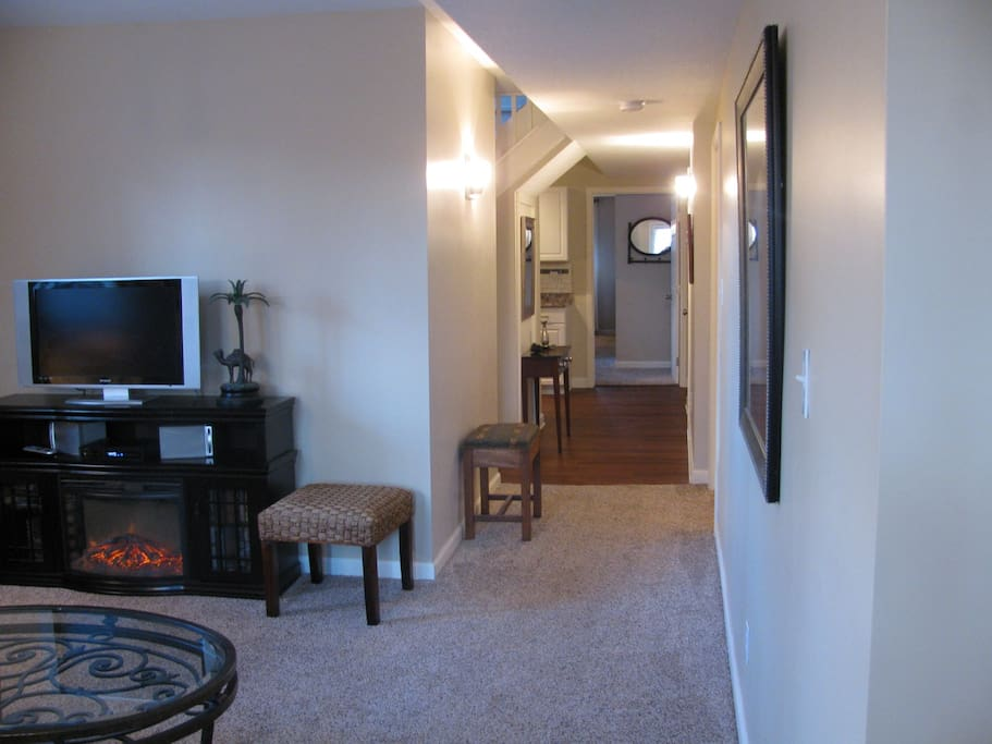 .View from front door. Master straight ahead. 2nd bedroom on right. Full bath & Kitchen on left