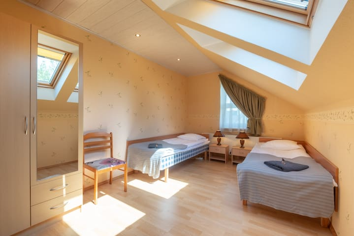 Lovely and clean room with two beds