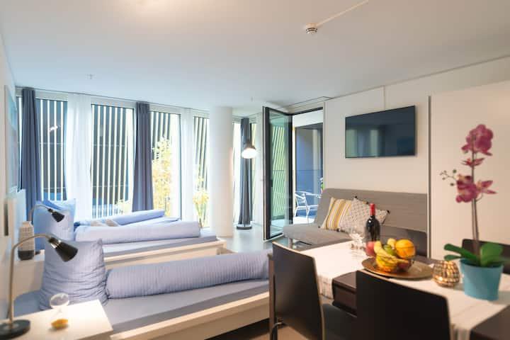 Nadelwehr II Comfortable 1.5 room Apt