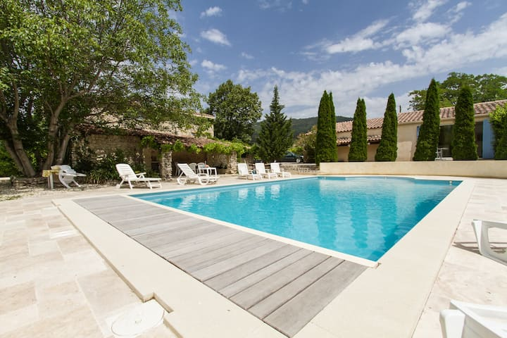 French Country House with heated private pool