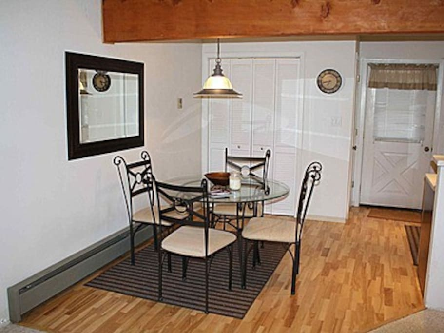 Kitchen/dining table. Washer/dryer inside folding doors. Food pantry near main entrance.