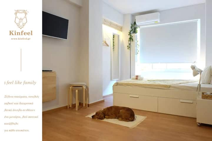 Kinfeels' dowtown apartment ( B1 )