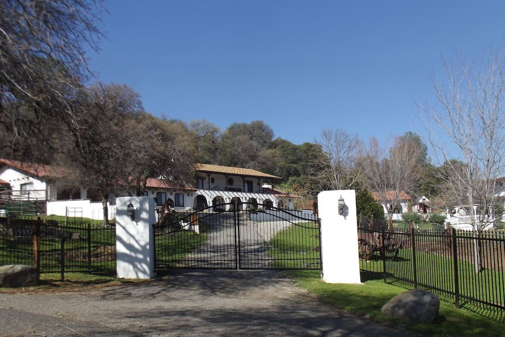 Gated entrance to the Hacienda