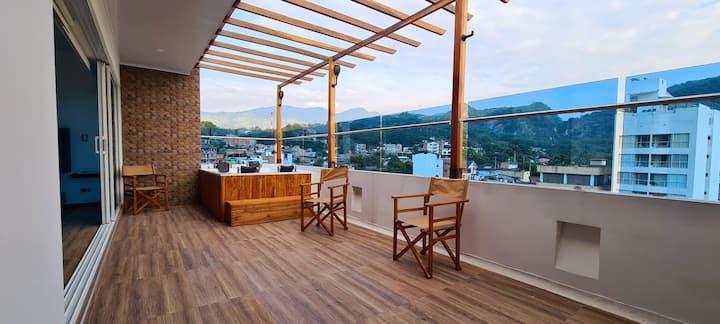 Nuevo penthouse para estrenar Terraza y jacuzzi.