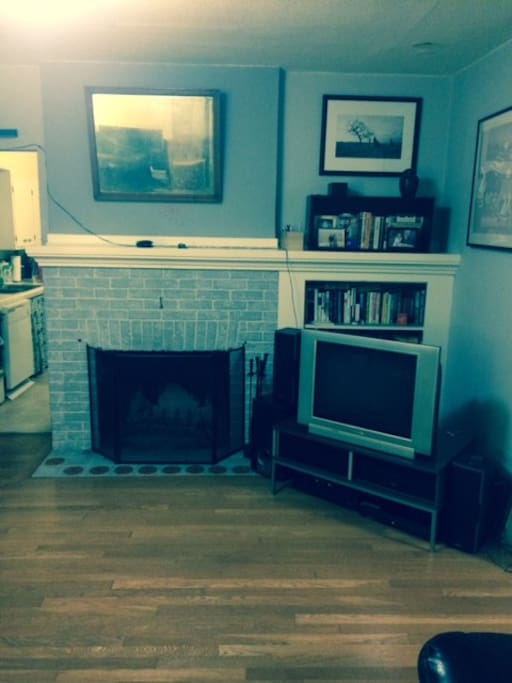 Front living room with working fireplace and TV, Netflix, DVD, Stereo