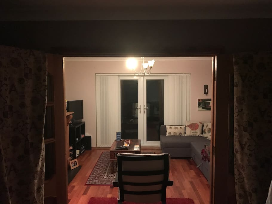 Dining room through to living room