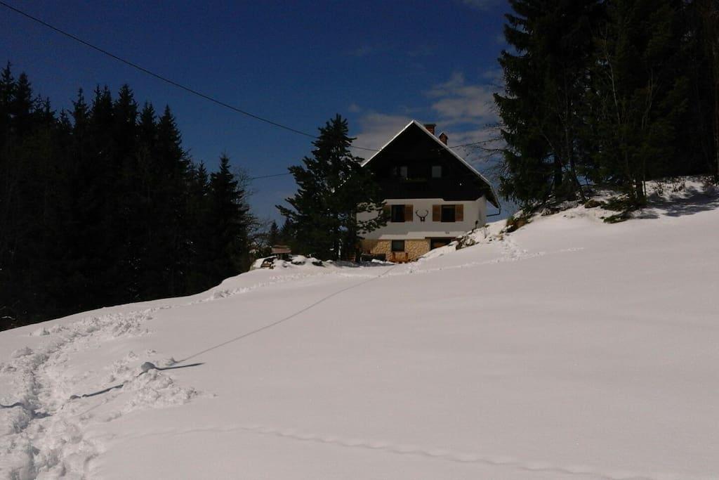 Winter Außen Ansicht