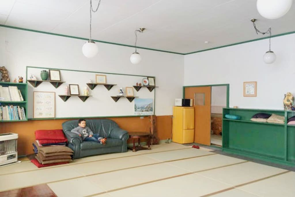 This is a room with tatami floor.