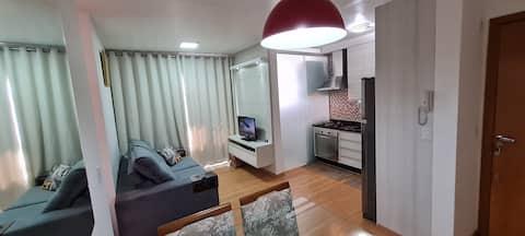 Apartamento aconchegante - totalmente mobiliado - melhor localização da cidade - com Wi-Fi super veloz