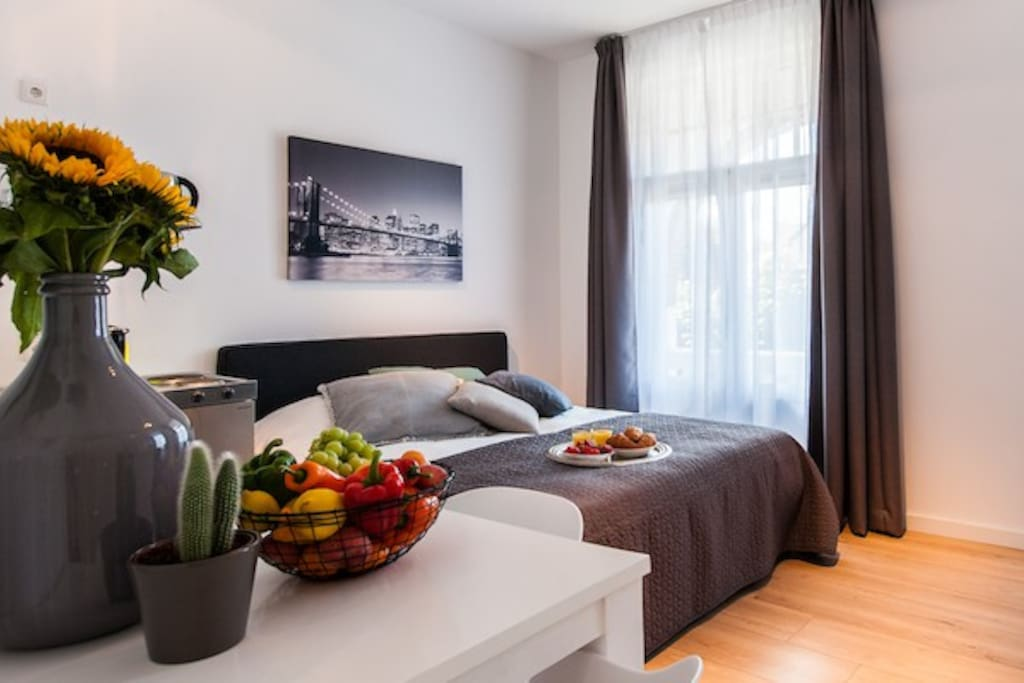 Large studio with terrace in hilversum wohnungen zur for 4 holland terrace needham ma