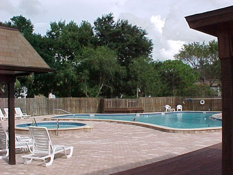 Pool, hot tub and deck