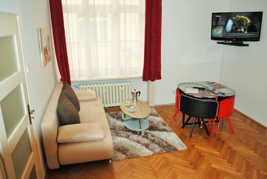 The apartment is suitable from 2 up to 8 people. The apartment has two spacious bedrooms.