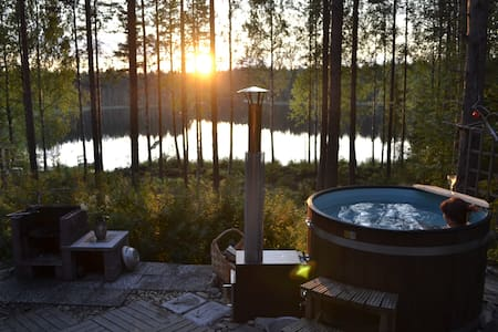 Summercottage with Hot tube - Uurainen