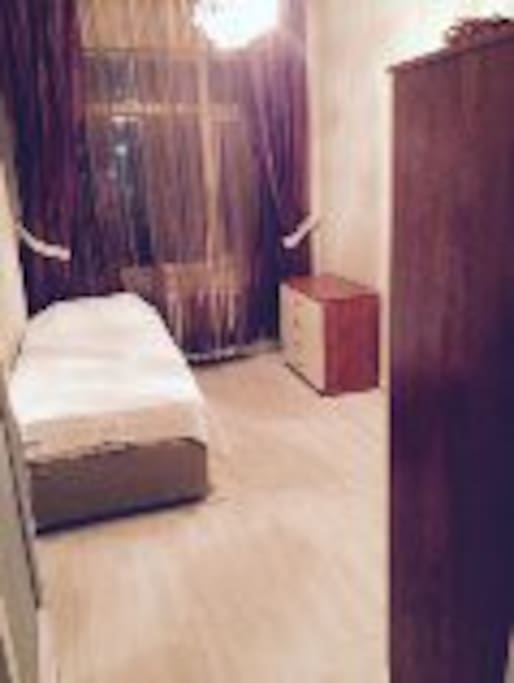 Bedroom - Single Bed, Wardrobe, TV
