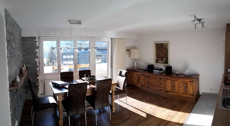 Traumhafte Ferienwohnung in Leukerbad - Leukerbad - Apartmen