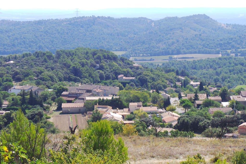 Vue du Village de Vernegues