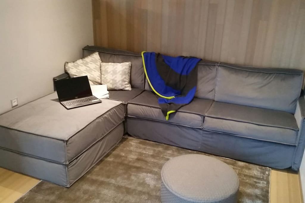 Sofa with italian velvet and antibacterial treatment