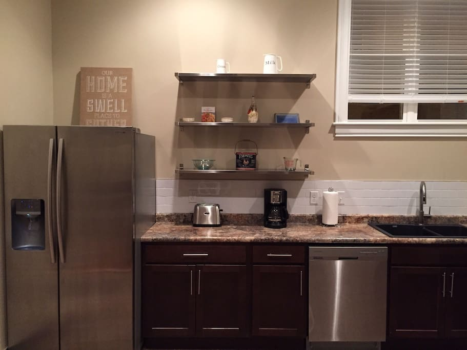 Spacious kitchen with lots of upgraded features & tools to prepare meals