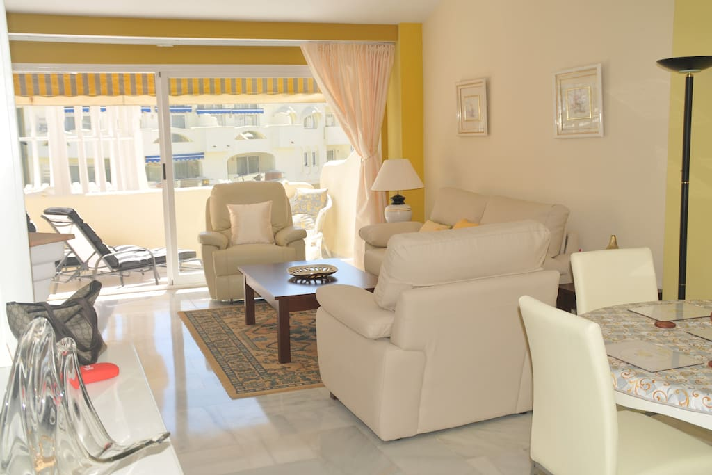 Living room and outside terrace