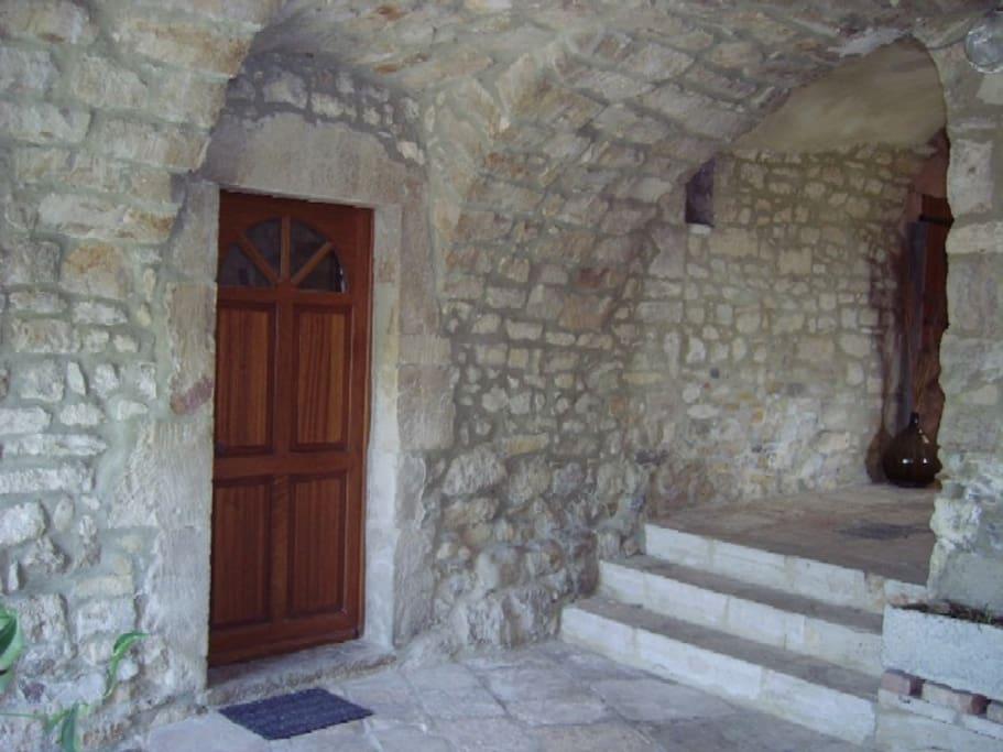 porte d'entrée du studio