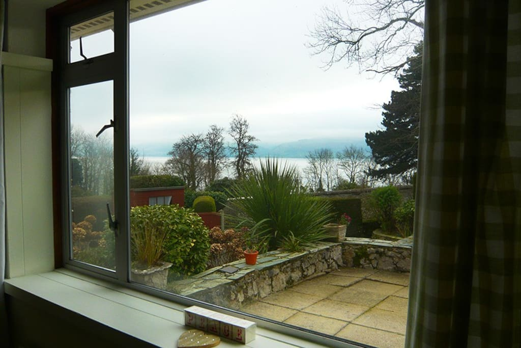 Beautiful views of the Menai Straits and Snowdonia mountain range