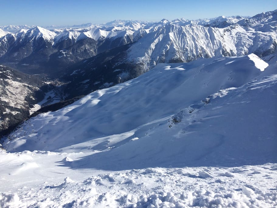 View from Sportgastein on Bad Gastein.