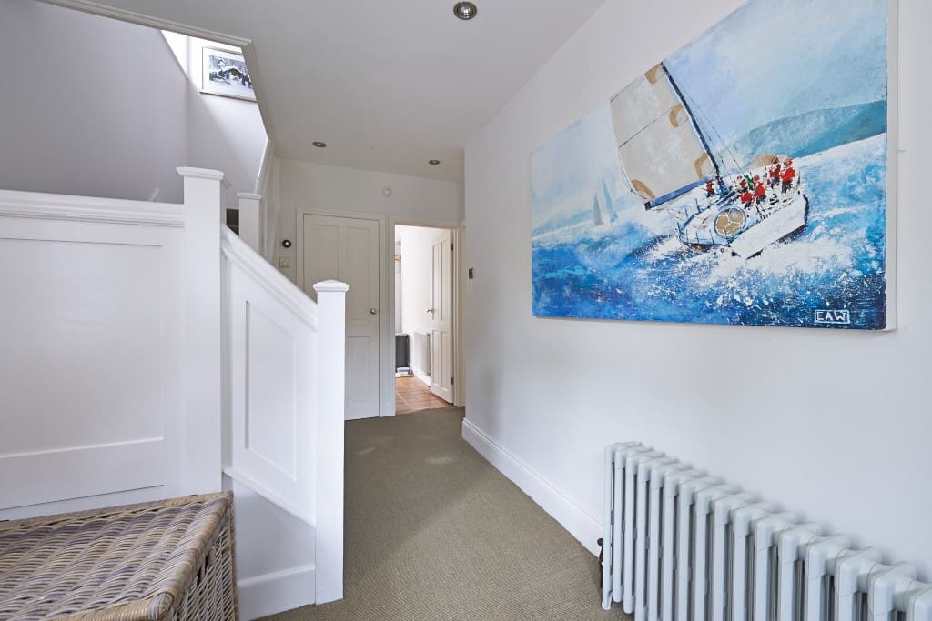 Hall, with art and