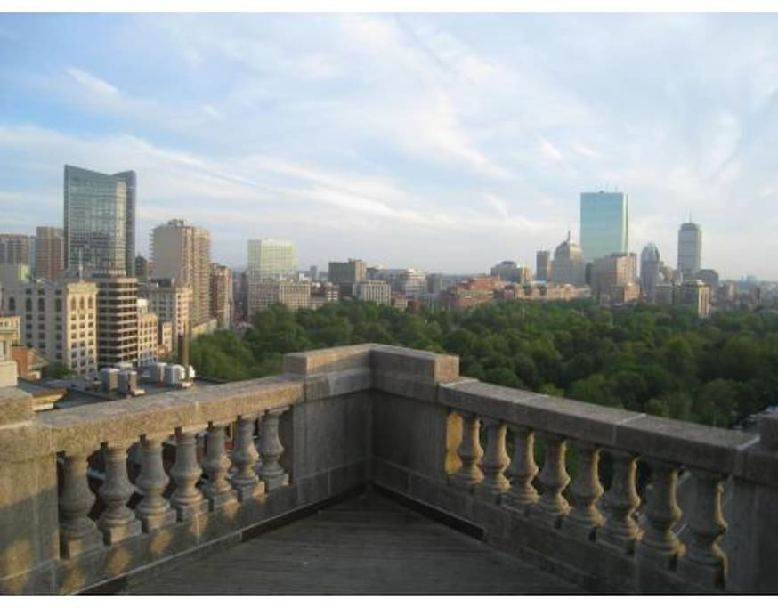 Astonishing day views of Back Bay from Rooftop