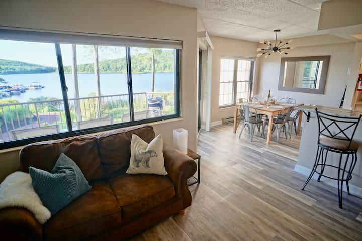 This is your unobstructed lake view from the living room