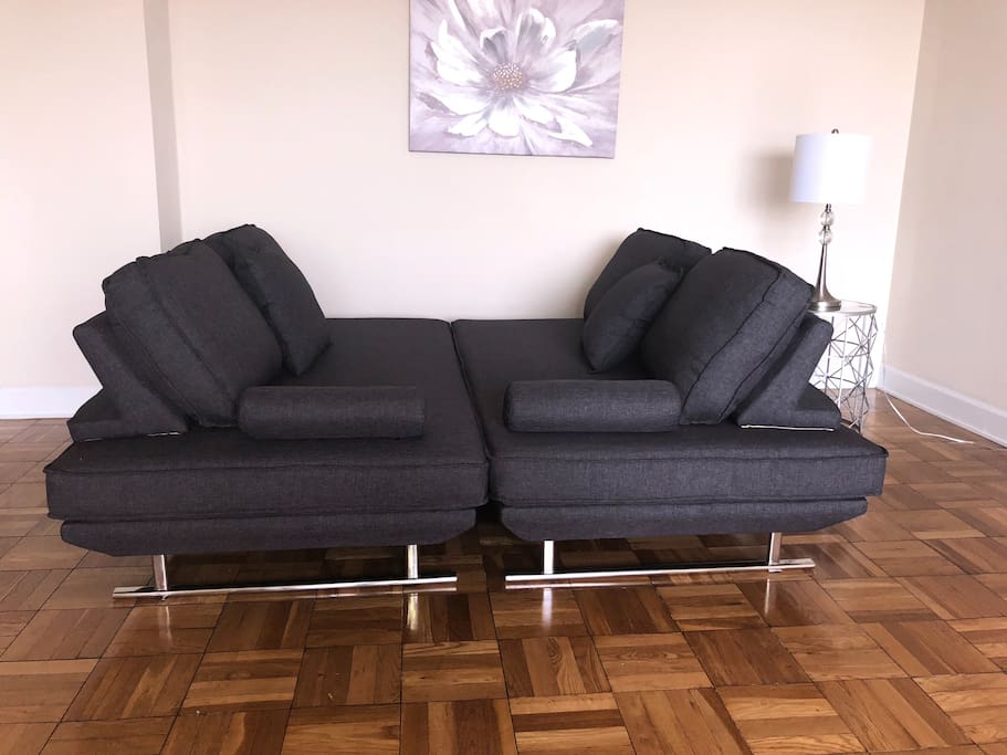 This is the sofa bed. Really comfortable for 2 guests.