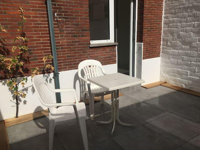 New studio with nice terrace in Antwerp center
